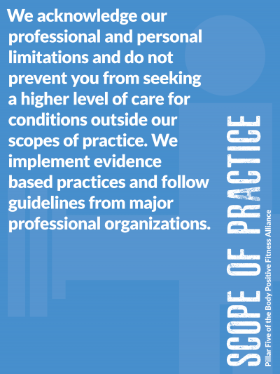 Scope of Practice - Pillar Five of the Body Positive Fitness Alliance
